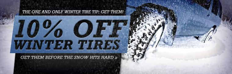 10% Off Winter Tires